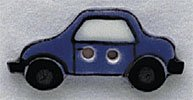 86314 - Blue Car 1in x 1/2in - 1 per pkg
